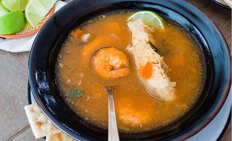 recetas de caldo de pescado y camaron