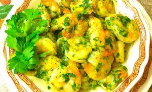 camarones en salsa verde