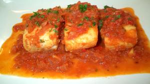 Receta de Bacalao Guisado con Tomate